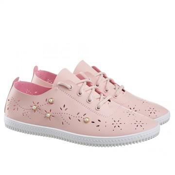 Женские мокасины SD-533 розовые