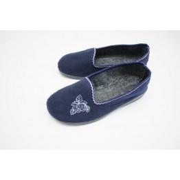 Домашние женские тапочки литин синие